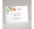 Fresh Floral Monogram - Response Card and Envelope