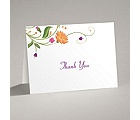 Fresh Floral Monogram - Thank You Card and Envelope