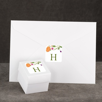 Fresh Floral Monogram - Envelope Seal
