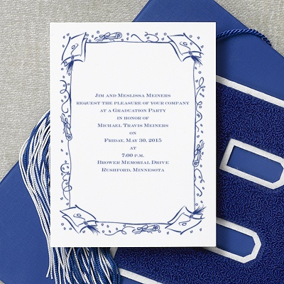 Cap and Diploma - Graduation Announcement