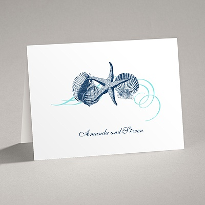 Beach Treasures - Thank You Card and Envelope