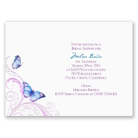 Delicate Butterfly - Blue Bridal Shower Invitation