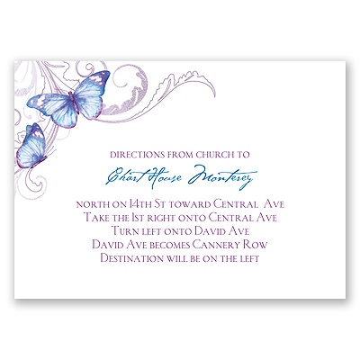 Delicate Butterfly - Mosaic - Map Card