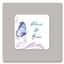 Delicate Butterfly - Blue Envelope Seal