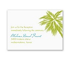 Tropical Palms - Green Reception Card