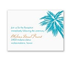 Tropical Palms - Turquoise Reception Card
