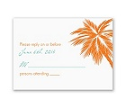 Tropical Palms - Orange Response Card and Envelope