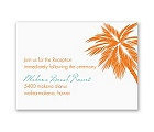 Tropical Palms - Orange Reception Card