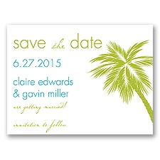 Tropical Palms - Green Save the Date
