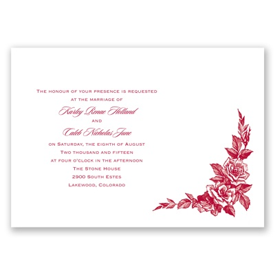 Antique Rose - Invitation