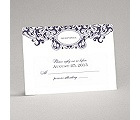 Damask Monogram - Raisin Purple - Response Card and Envelope