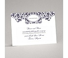 Damask Monogram - Raisin Purple - Reception Card