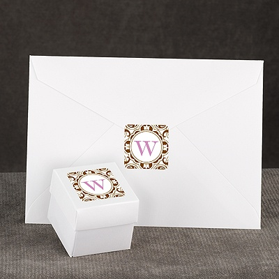 Damask Monogram - Brown - Seal