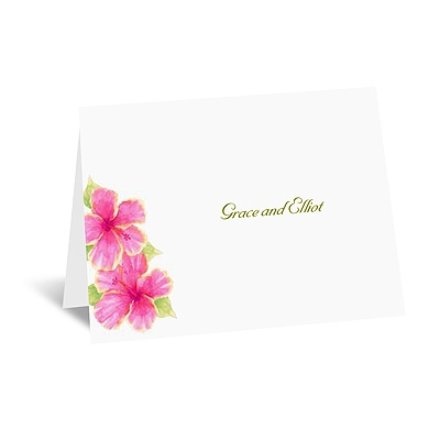 Tropical Hibiscus - Thank You Card and Envelope