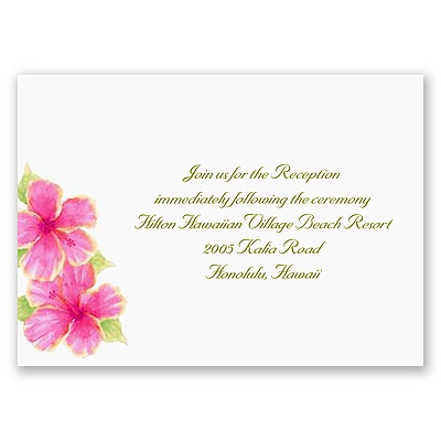 Tropical Hibiscus - Reception Card
