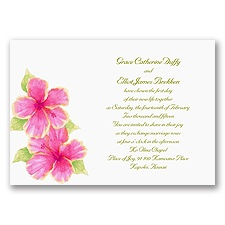 Tropical Hibiscus - Invitation