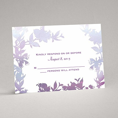 Watercolor Shades - Purple - Response Card and Envelope