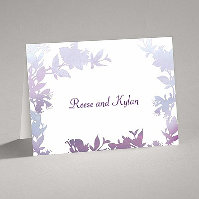 Watercolor Shades - Purple - Thank You Card and Envelope