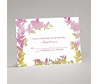 Watercolor Shades - Fuchsia - Response Card and Envelope