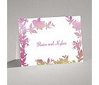 Watercolor Shades - Fuchsia - Thank You Card and Envelope
