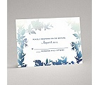 Watercolor Shades - Navy - Response Card and Envelope
