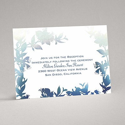 Watercolor Shades - Navy - Reception Card