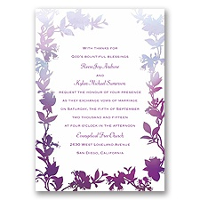 Watercolor Shades - Purple - Invitation