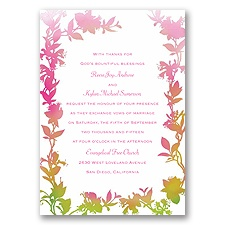 Watercolor Shades - Fuchsia - Invitation
