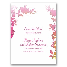 Watercolor Shades - Fuchsia - Save the Date