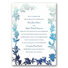 Watercolor Shades - Navy - Invitation