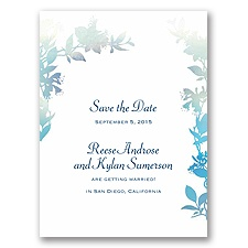 Watercolor Shades - Navy - Save the Date