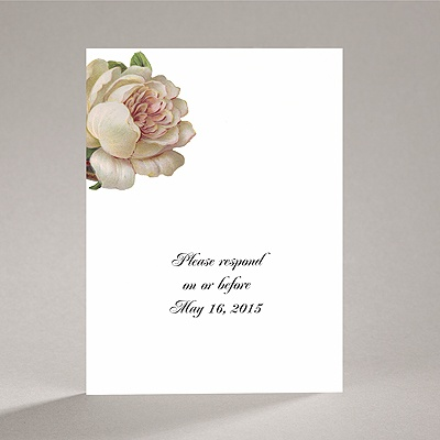 Vintage Peony - Response Card and Envelope
