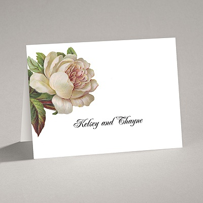 Vintage Peony - Thank You Card and Envelope