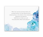 Watercolor Roses - Blue - Reception Card