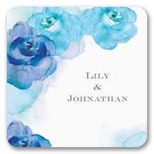 Watercolor Roses - Blue - Jumbo Seal