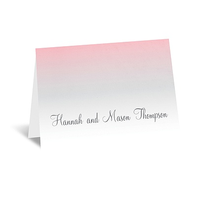 Sweet Shading - Pink - Thank You Card and Envelope