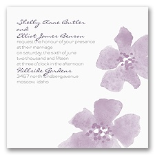Floral Impression - Lavender - Invitation