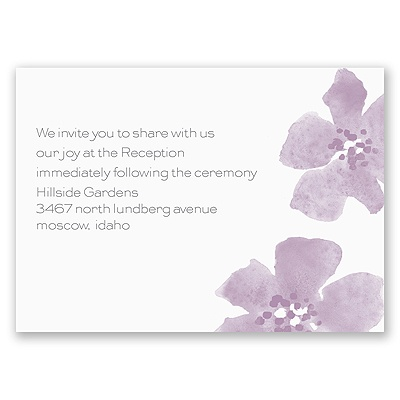 Floral Impression - Lavender - Reception Card