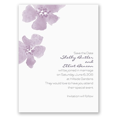 Floral Impression - Lavender - Save the Date Card