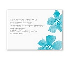Floral Impression - Palm - Reception Card