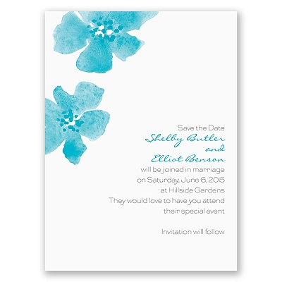 Floral Impression - Palm - Save the Date Card
