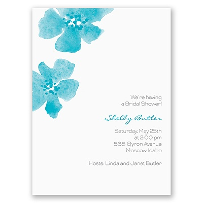 Floral Impression - Palm - Bridal Shower Invitation