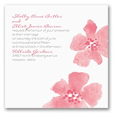 Floral Impression - Posie Pink - Invitation
