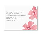 Floral Impression - Posie Pink - Reception Card
