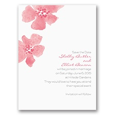 Floral Impression - Posie Pink - Save the Date Card