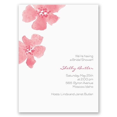 Floral Impression - Posie Pink - Bridal Shower Invitation