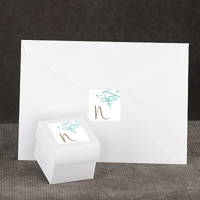 Calligraphy Swirls - Teal - Seal