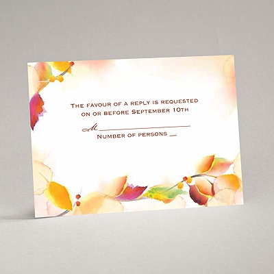 Autumn Artistry - Response Card and Envelope