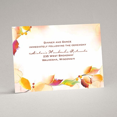 Autumn Artistry - Reception Card