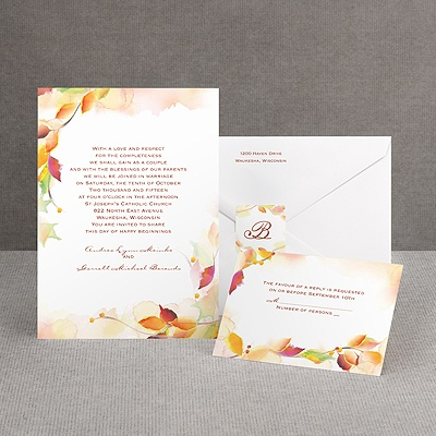 Autumn Artistry - Invitation